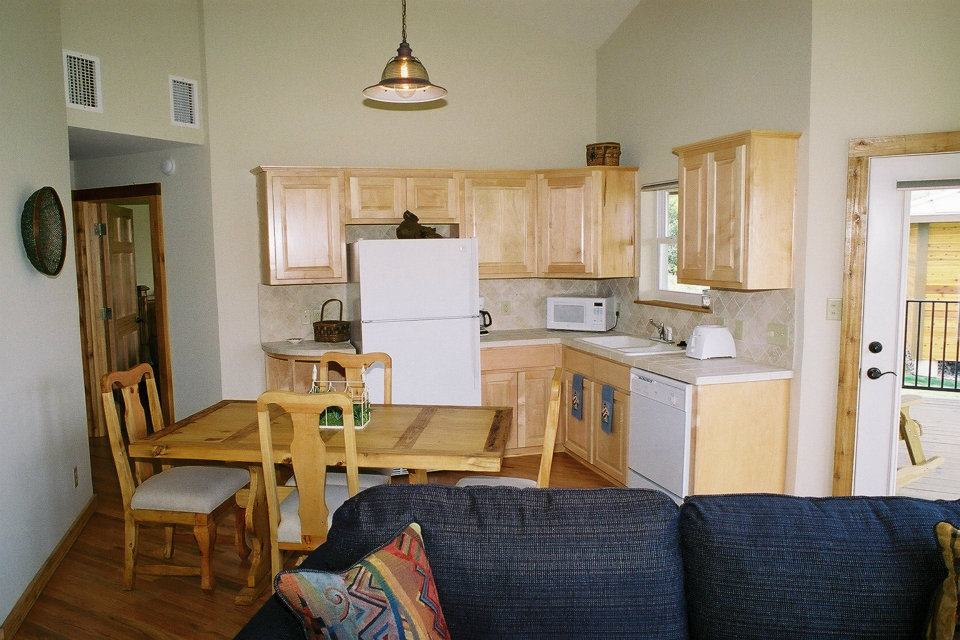 Kitchen in cottage No. 3